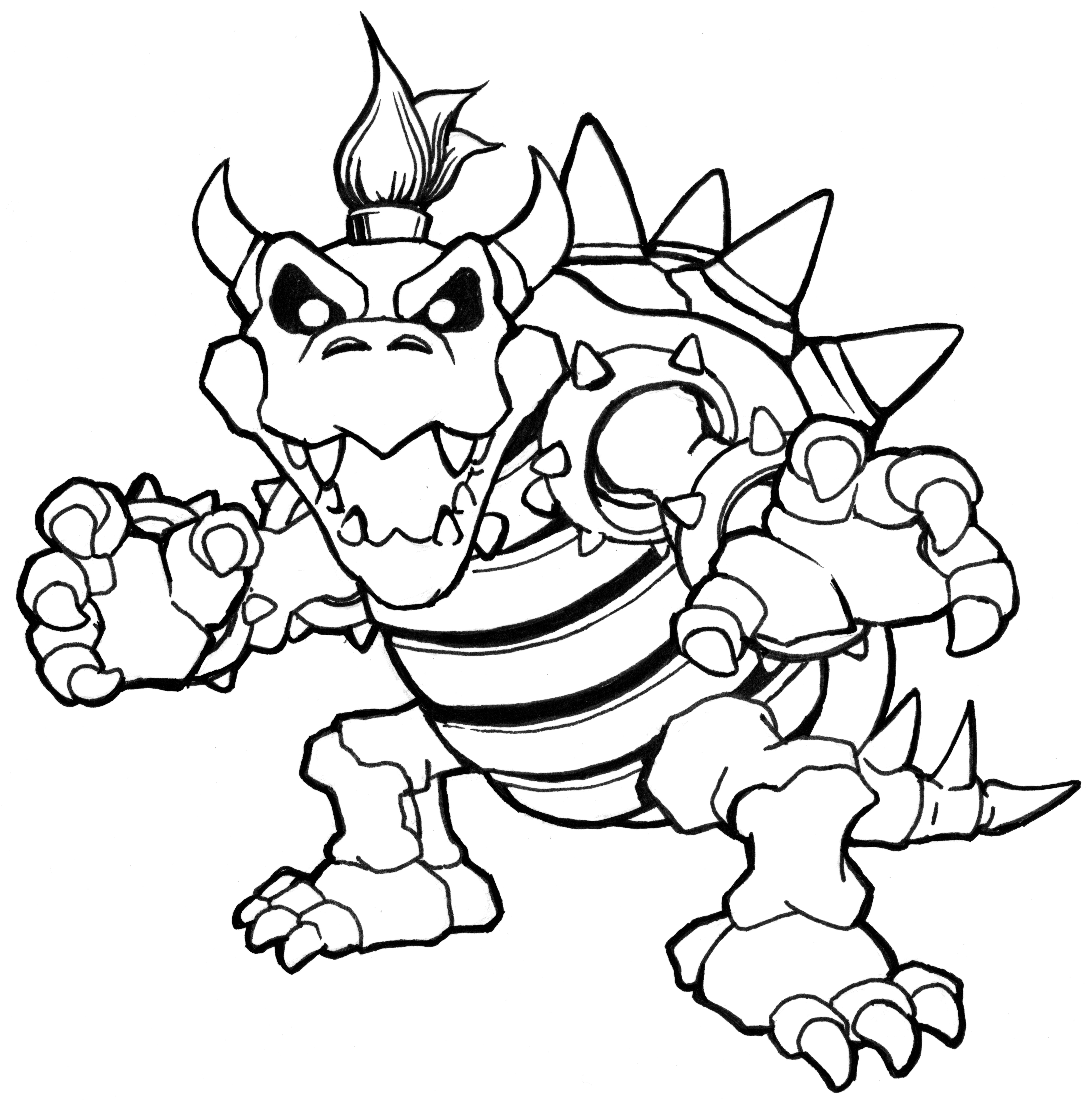 bowser colouring pages bowser coloring page at getdrawings free download bowser colouring pages