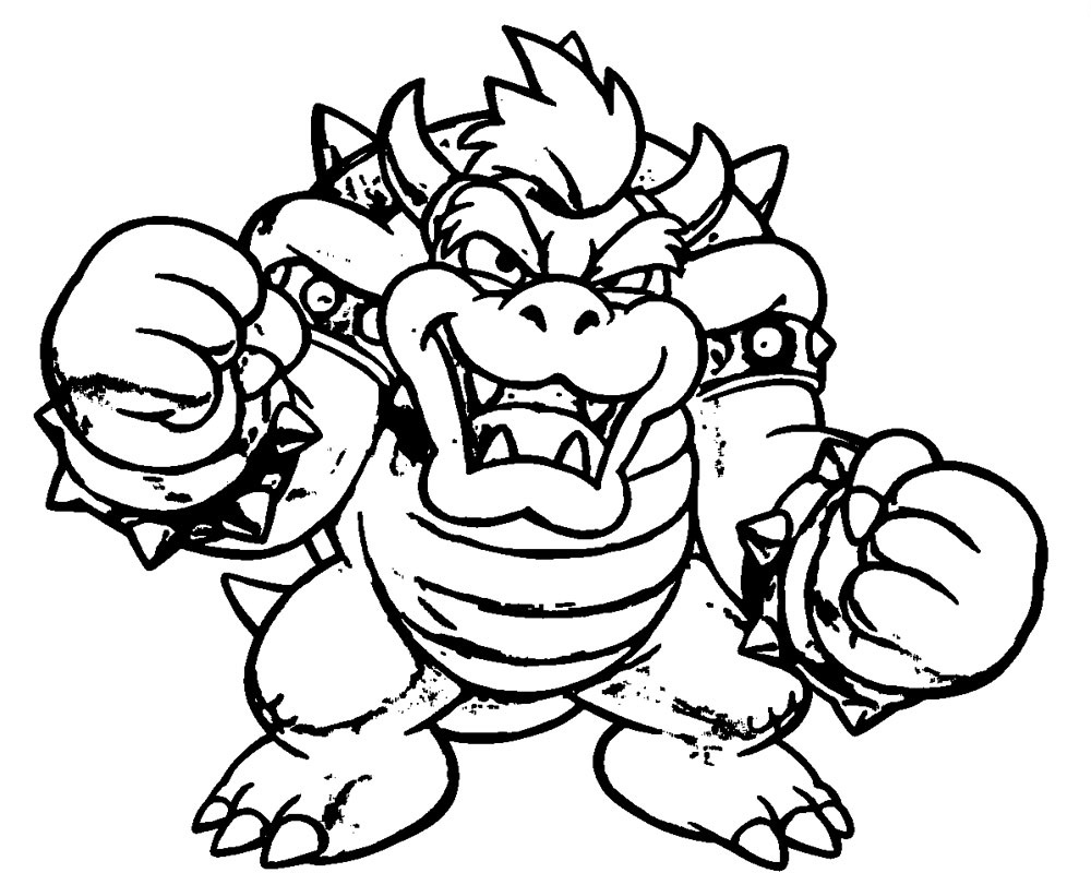 bowser colouring pages bowser coloring page vanquish studio colouring pages bowser