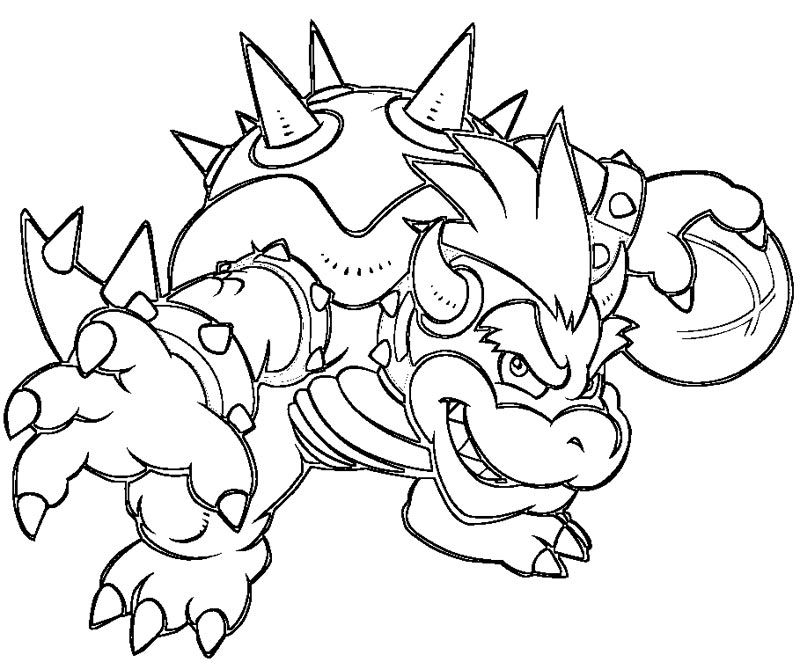 bowser colouring pages bowser coloring pages free coloring home colouring pages bowser