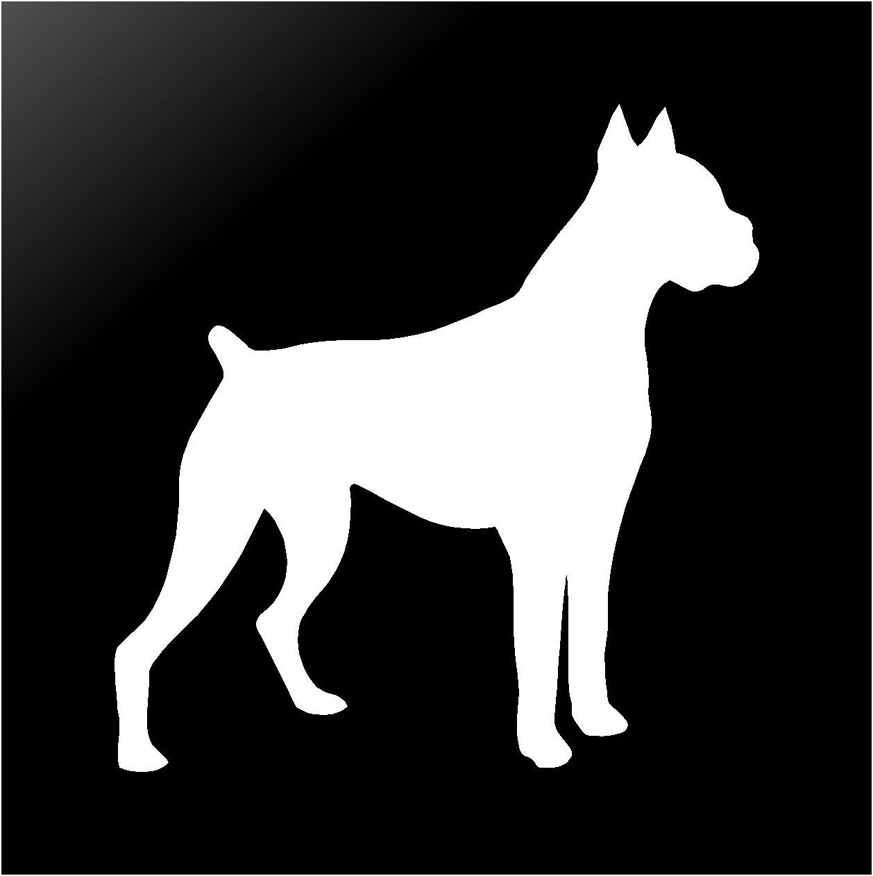 boxer dog silhouette boxer dog silhouette at getdrawings free download dog boxer silhouette
