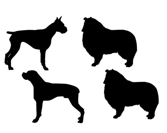 boxer dog silhouette boxer silhouette dog decal silhouette boxer dog