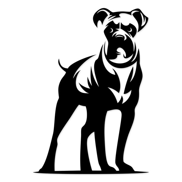 boxer dog silhouette dog welcome sign breed boxer silhouette dog boxer