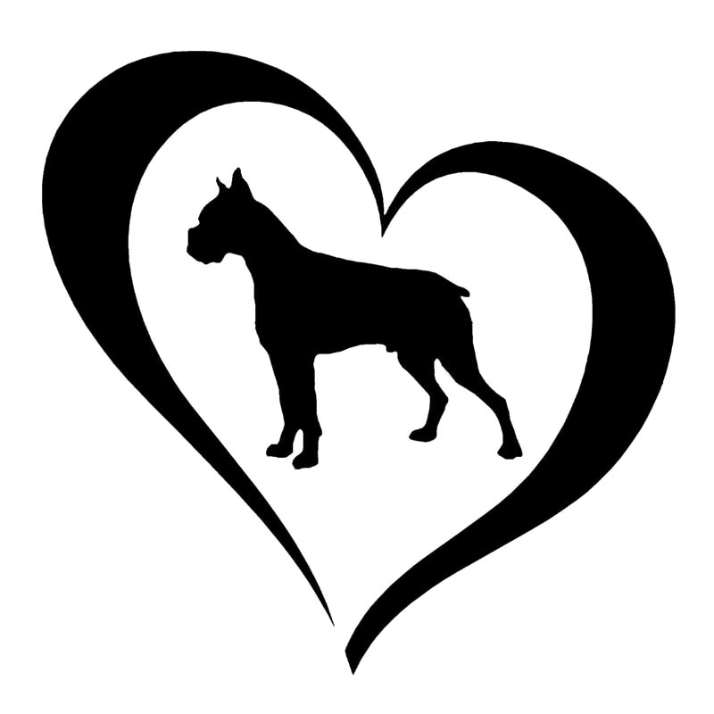 boxer dog silhouette items similar to 6quot boxer colle vinyl dog silhouette silhouette boxer dog