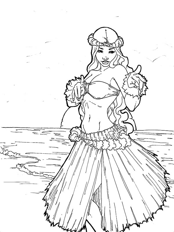 boxy girl coloring pages hula girl with beach view coloring pages coloring sky girl coloring pages boxy