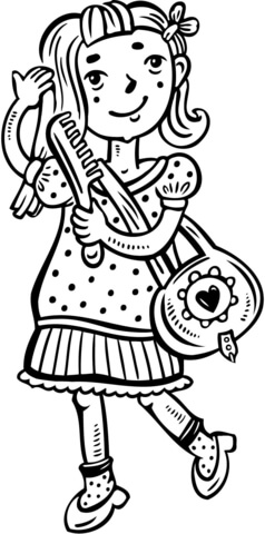 boxy girl coloring pages la dee da coloring page free printable coloring pages coloring girl boxy pages