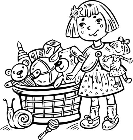 Boxy girl coloring pages