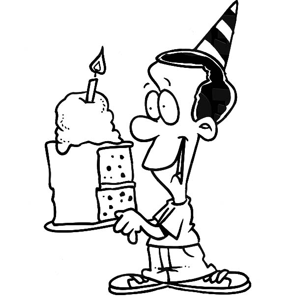 boy birthday coloring pages birthday boy holding his birthday present coloring pages boy birthday coloring pages