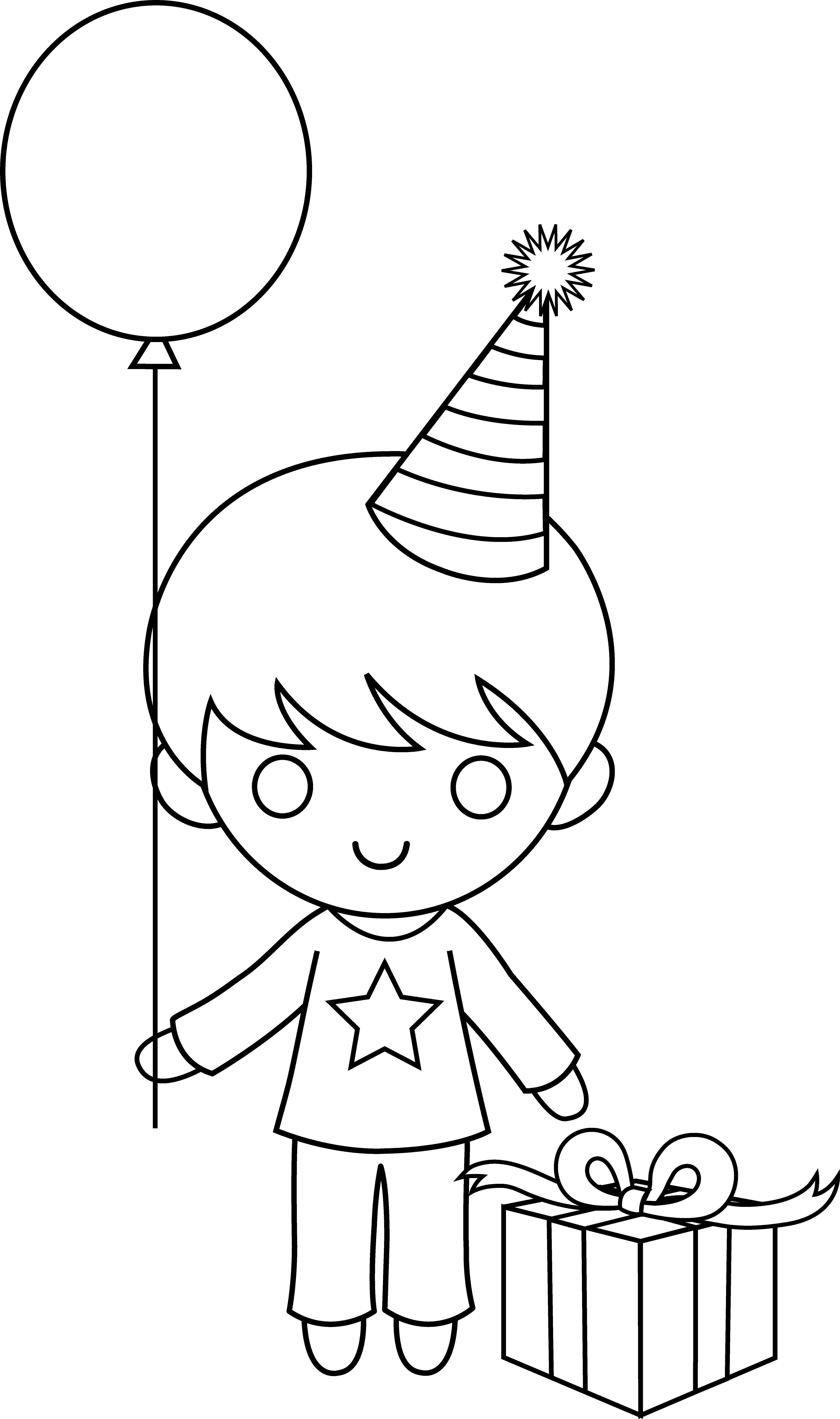 Boy birthday coloring pages