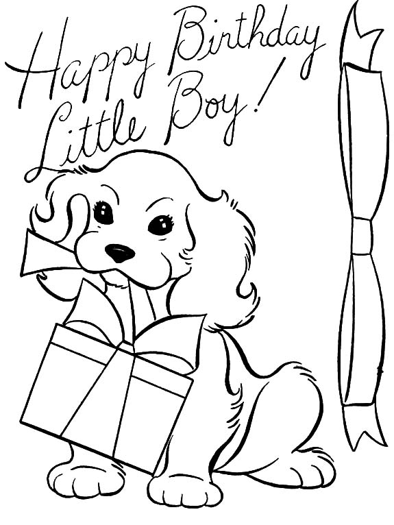 boy birthday coloring pages birthday coloring page a boy with gifts and balloons coloring birthday boy pages