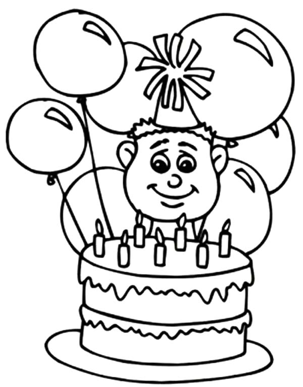 boy birthday coloring pages boy with a birthday gift kawaii 01 9wj skb coloring page coloring birthday boy pages