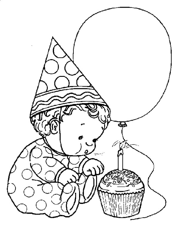boy birthday coloring pages boy with a birthday gift kawaii 01 9wjskb best place to birthday boy pages coloring