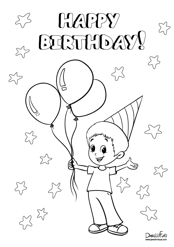 boy birthday coloring pages boy with a birthday gift kawaii 01 9wjskb best place to coloring pages birthday boy