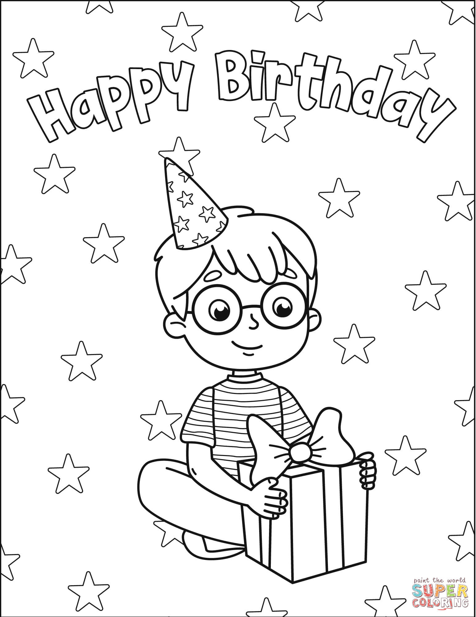 boy birthday coloring pages happy birthday boy coloring pages coloring home birthday boy coloring pages