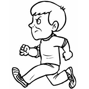 boy running coloring page hand drawing of boy running vector illustration stock running coloring boy page