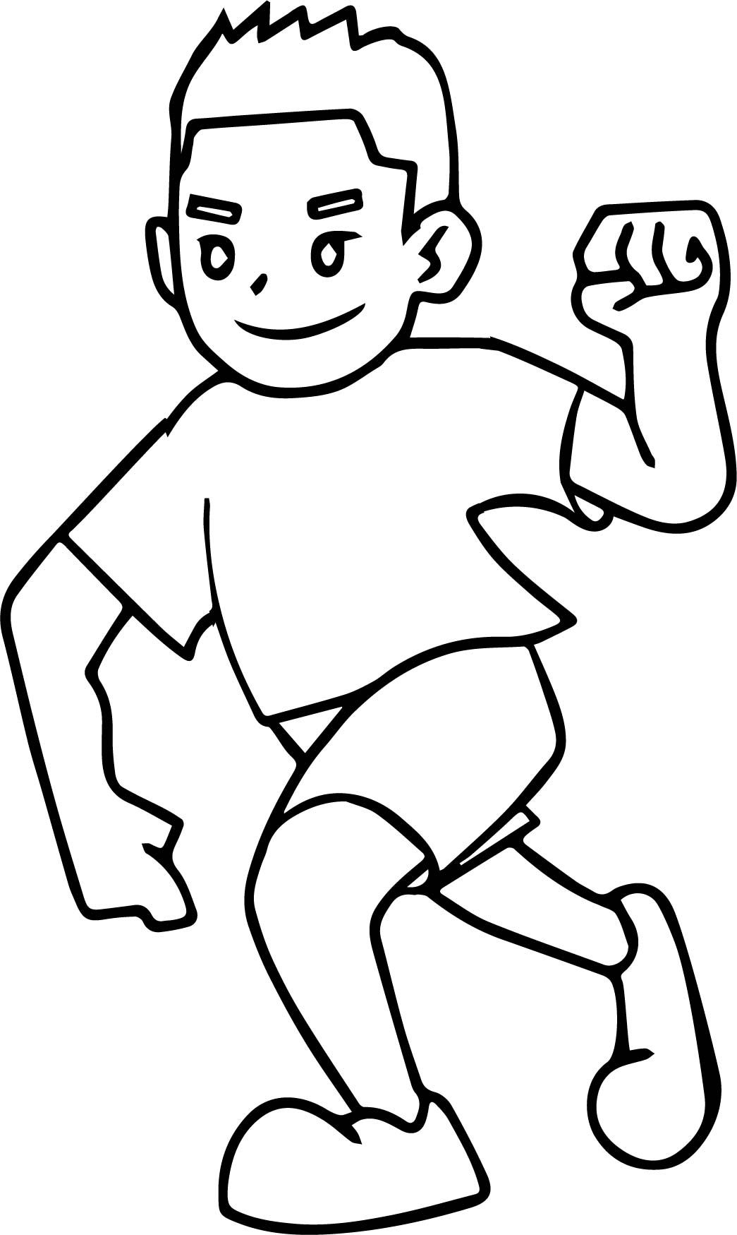 boy running coloring page happy boy running coloring page stock illustration coloring boy page running