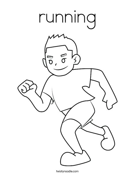 boy running coloring page nice boy running school outline coloring page cute easy coloring running boy page