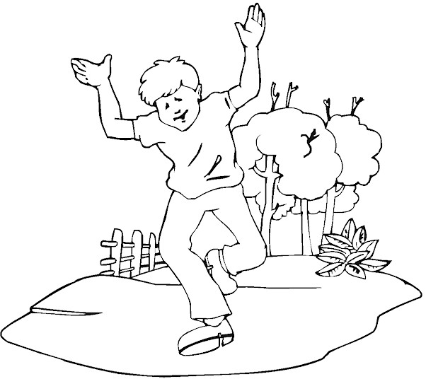 boy running coloring page royalty free coloring pages to print stock scout designs page boy running coloring
