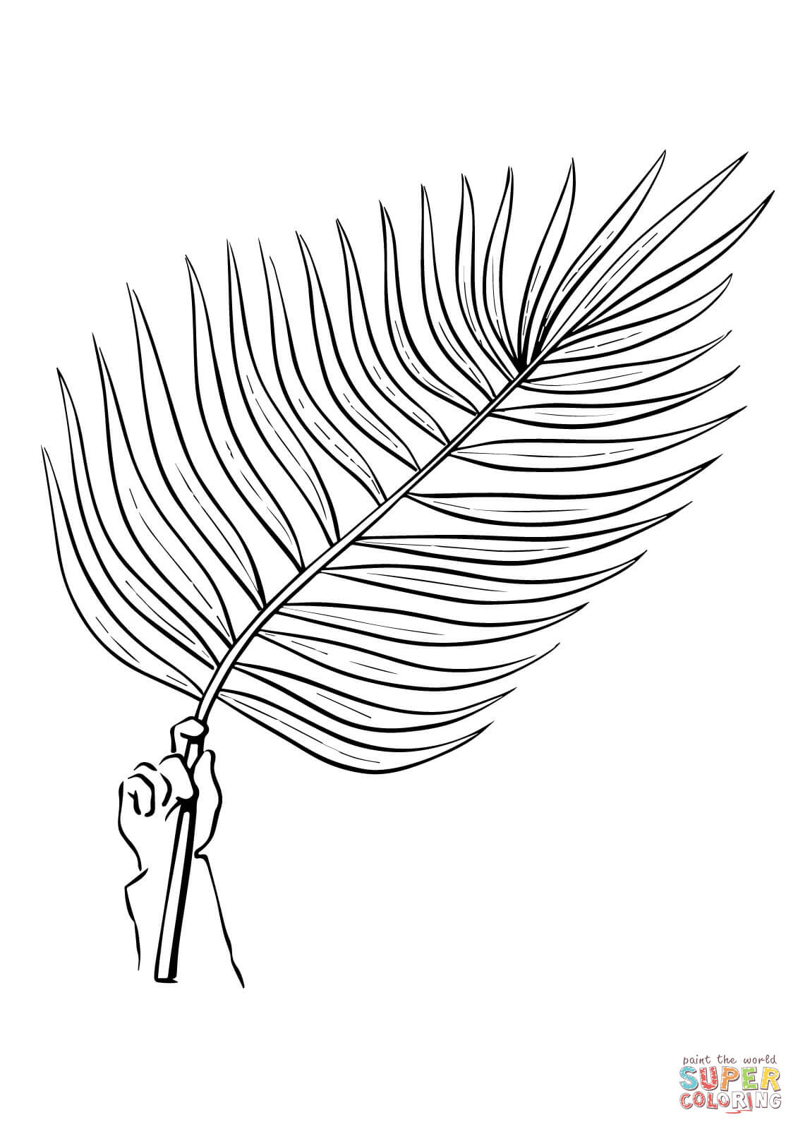 branch coloring page palm branch coloring page coloring home branch coloring page