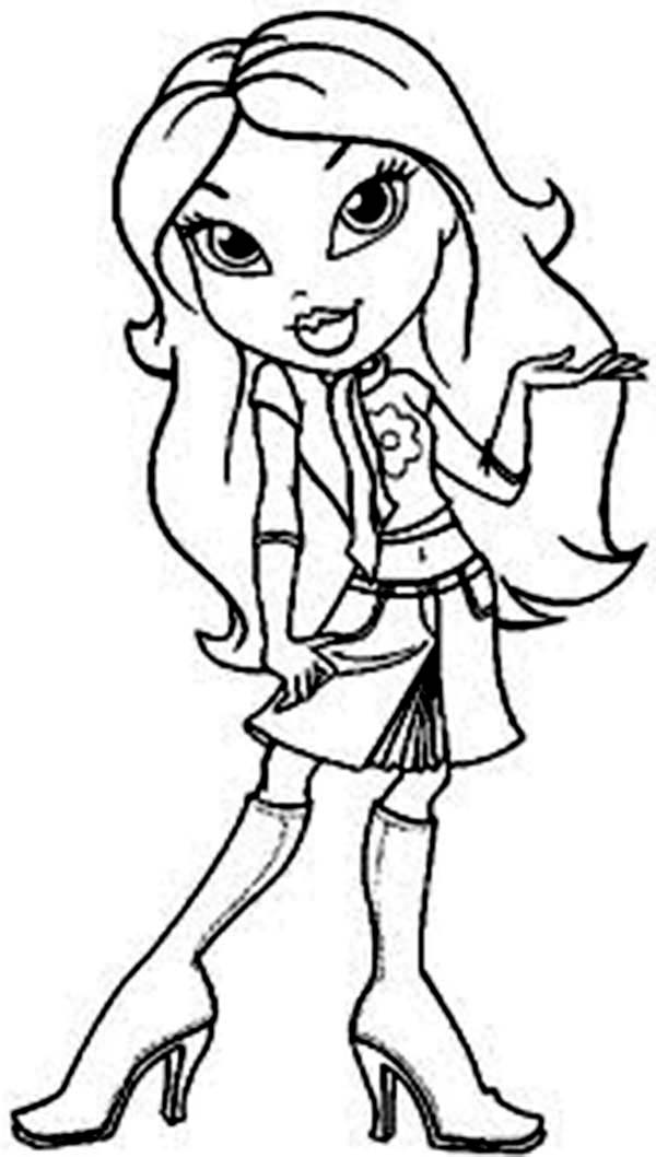 bratz coloring pages that you can print bratz drawing free download on clipartmag you print bratz that can coloring pages