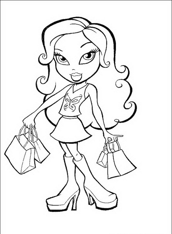 bratz coloring pages that you can print clip art cheerleader free printable free that coloring can you bratz pages print