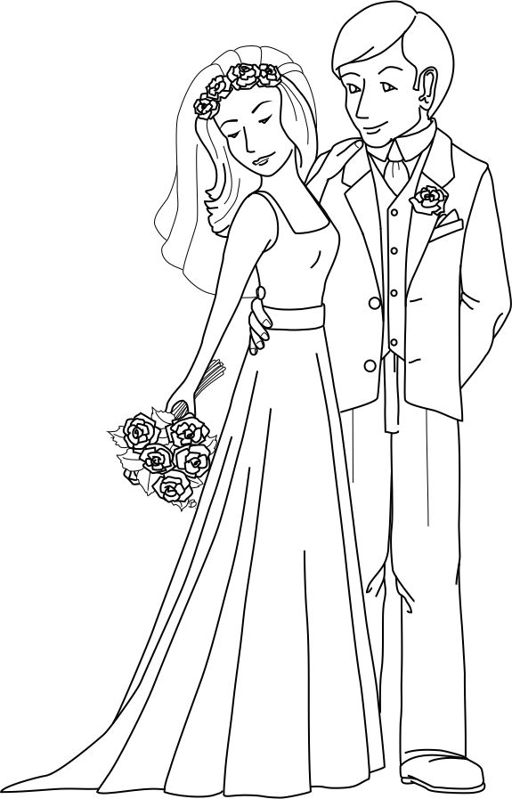 bride and groom coloring pages bride groom coloring page at getcoloringscom free groom and bride pages coloring