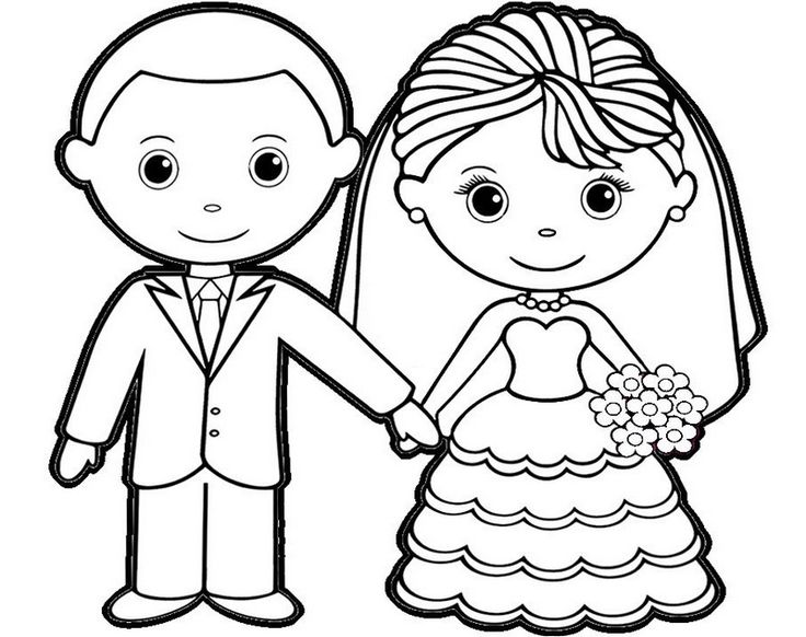 bride and groom coloring pages bride groom coloring page at getcoloringscom free groom and bride pages coloring 1 1