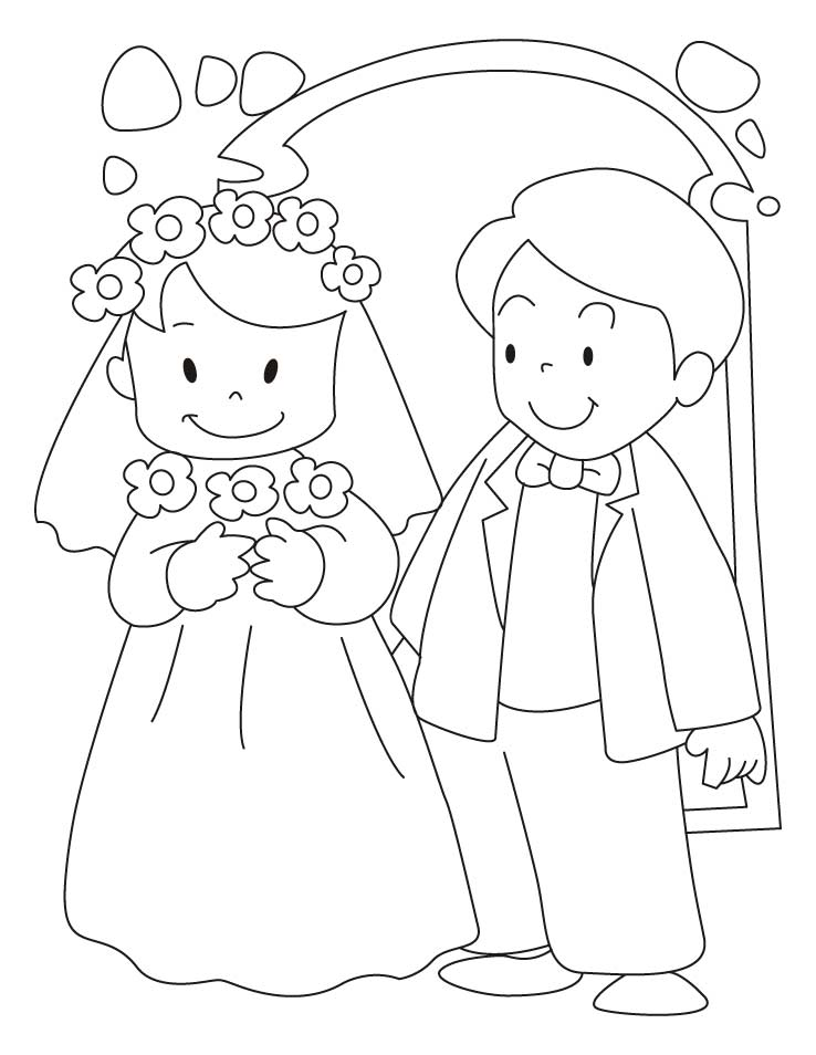 bride and groom pictures to colour in bride and groom coloring book page stock illustration to in groom colour and bride pictures