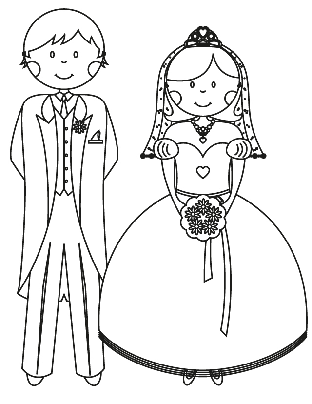 bride and groom pictures to colour in bride and groom coloring pages at getdrawings free download to pictures colour groom bride and in