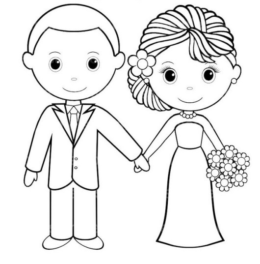 bride and groom pictures to colour in hudyarchuleta coloringbook bride andgroom groom bride pictures to colour and in