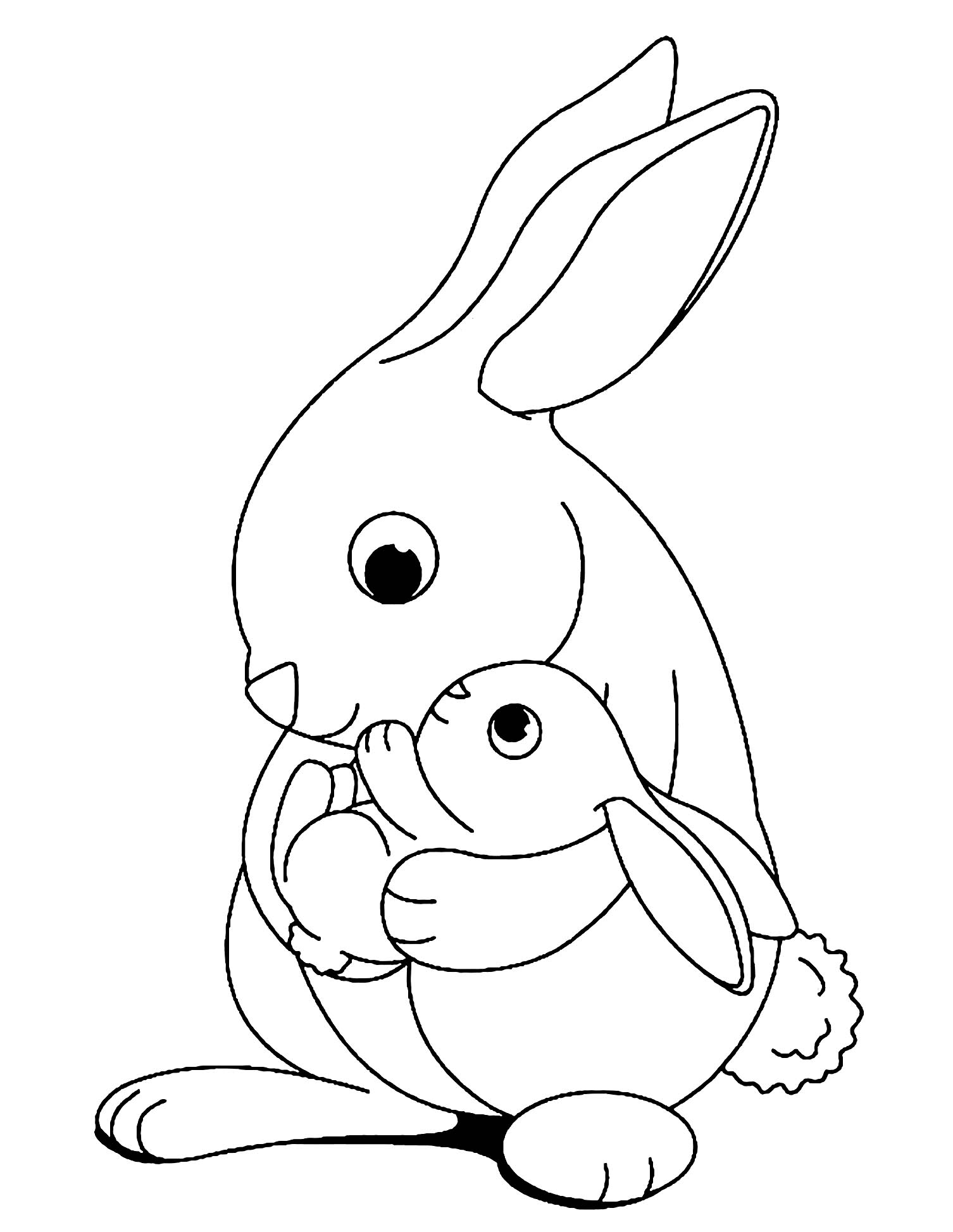 bunny coloring book rabbit to print for free rabbit kids coloring pages book coloring bunny