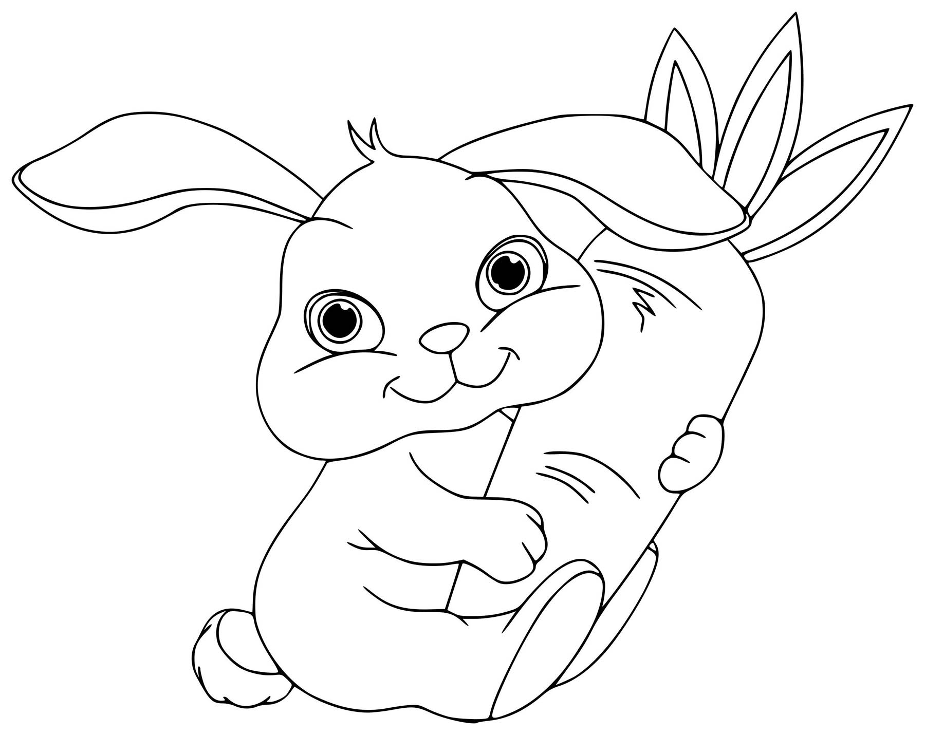 bunny coloring picture get this online printable rabbit coloring pages 4g45s coloring bunny picture