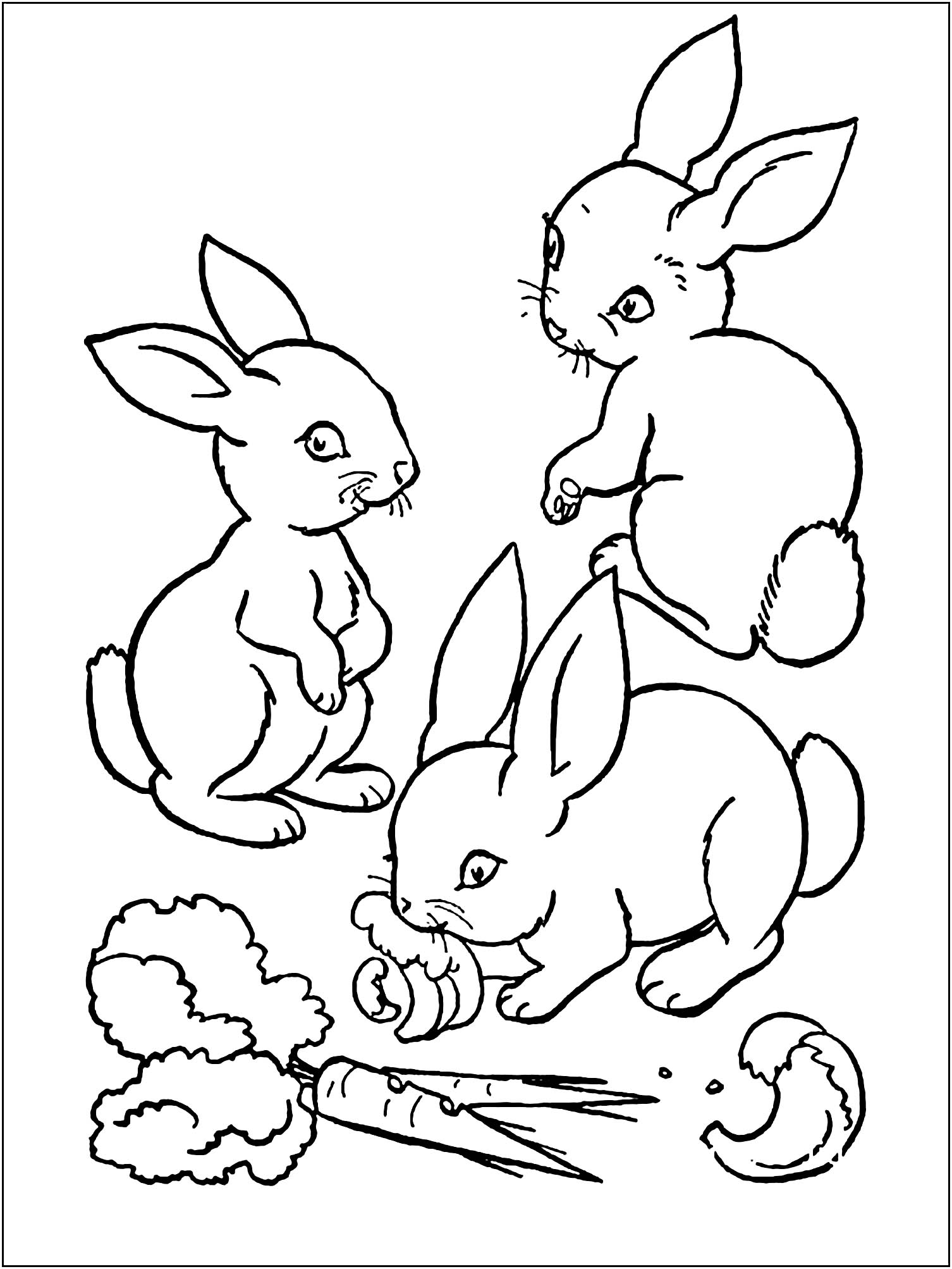 bunny coloring picture rabbit free to color for children rabbit kids coloring pages coloring picture bunny