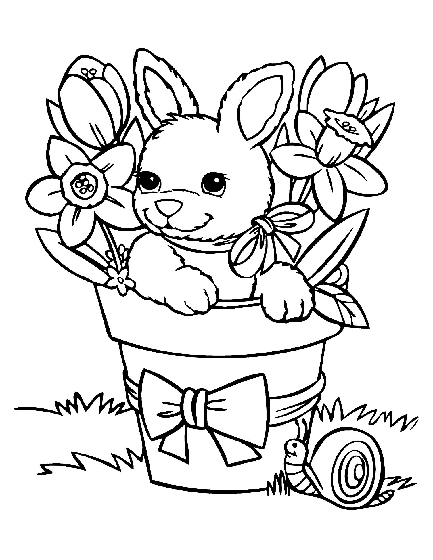 bunny coloring picture rabbit free to color for children rabbit kids coloring pages picture bunny coloring