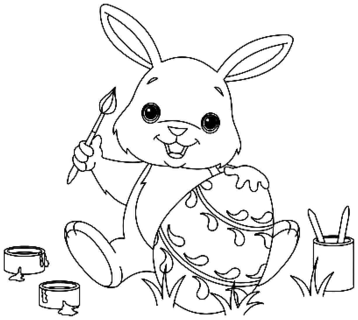 bunny coloring picture rabbit free to color for kids rabbit kids coloring pages coloring picture bunny