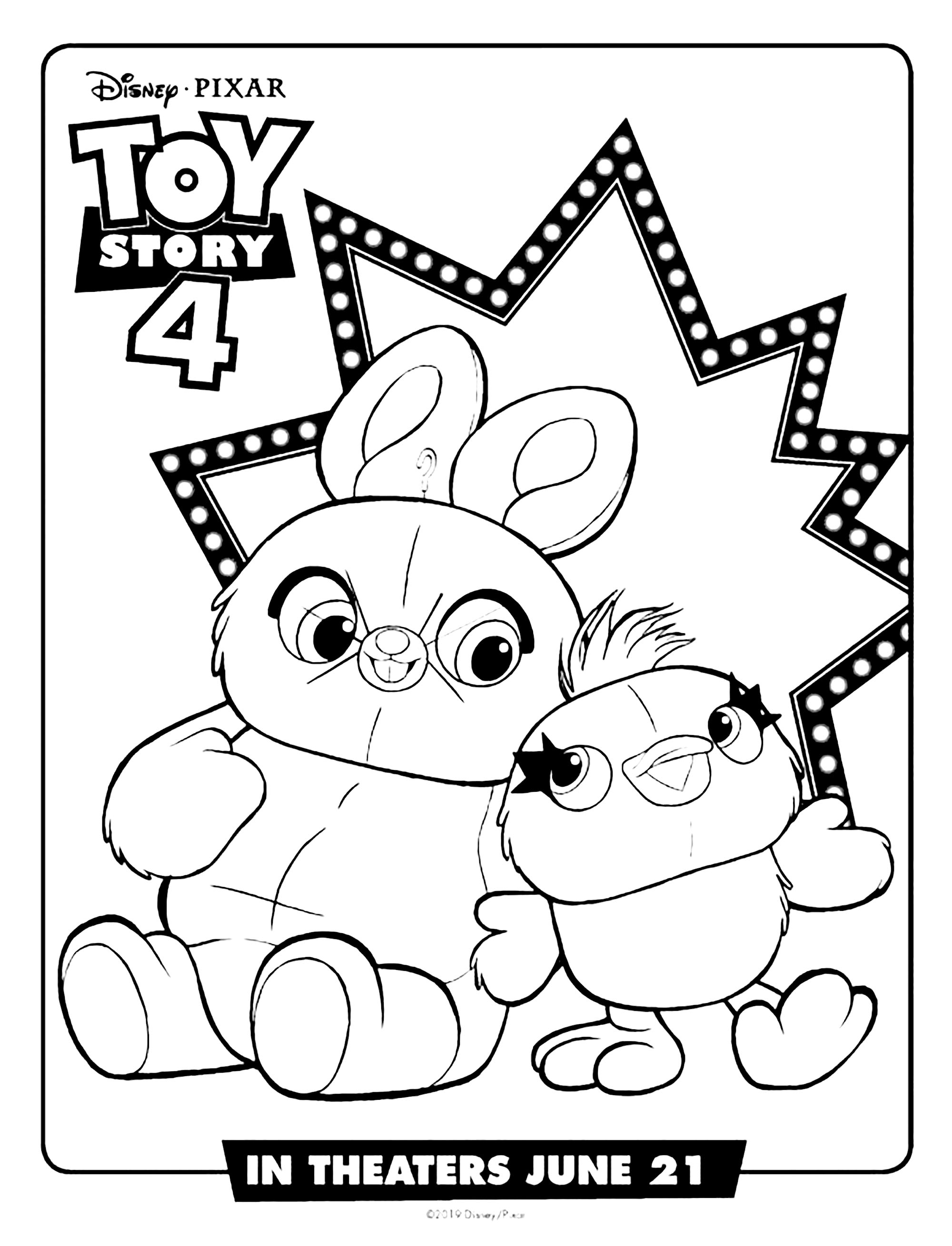 bunny toy story 4 coloring pages قصة لعبة تلوين 4 صفحات الأفلام والبرامج التلفزيونية coloring bunny story toy 4 pages