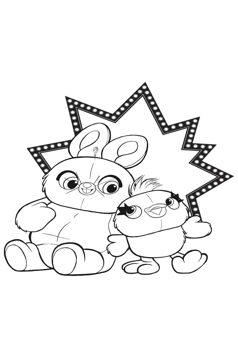 bunny toy story 4 coloring pages buzz lightyear free coloring pages toy story 353690 coloring pages story 4 toy bunny