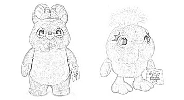 bunny toy story 4 coloring pages toy story 4 coloring pages getcoloringpagescom story 4 bunny pages toy coloring