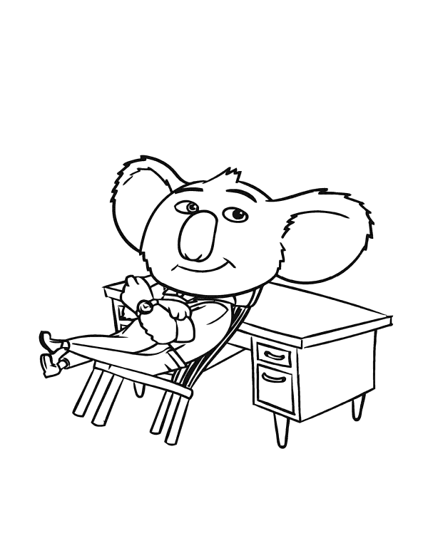 buster moon sing coloring pages free coloring pages buster moon