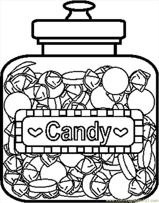 Candy jar coloring page
