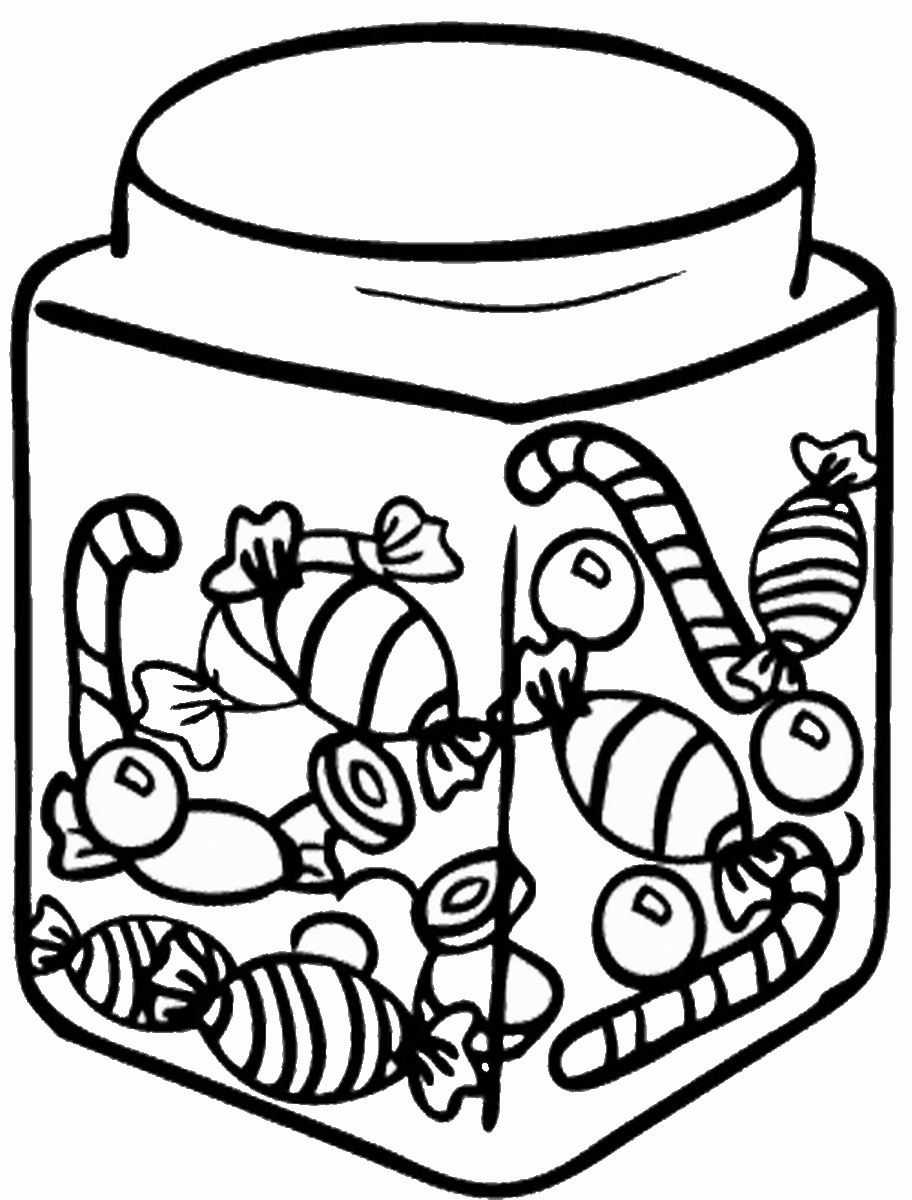 candy jar coloring page candy jar colouring pages page 3 az dibujos para colorear jar page coloring candy