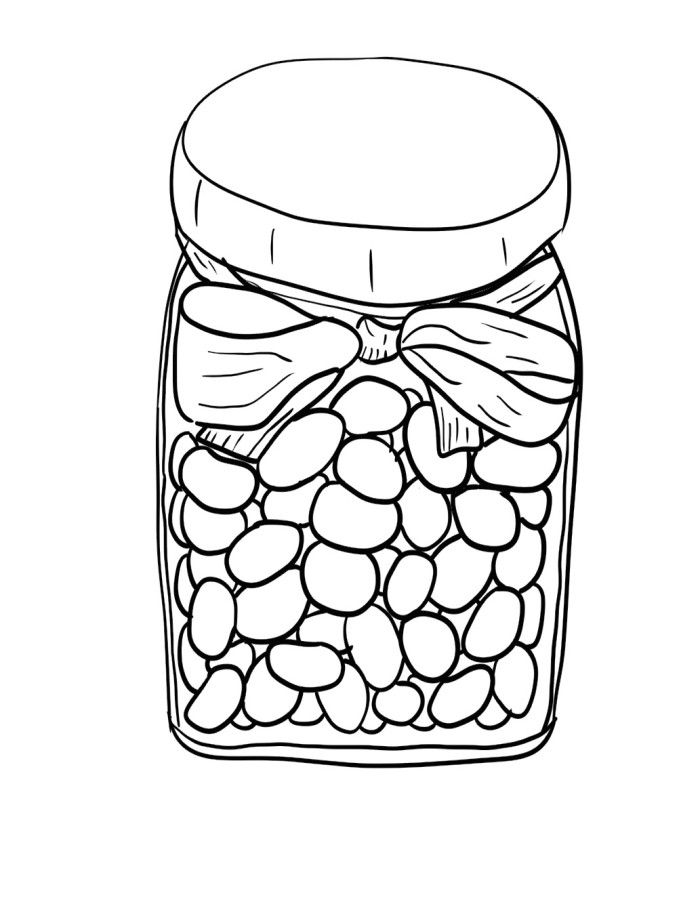 candy jar coloring page jar of jelly beans coloring pages food coloring pages page jar coloring candy