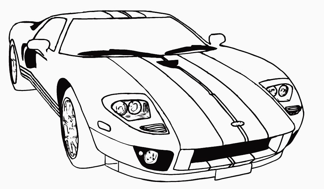 Car for coloring