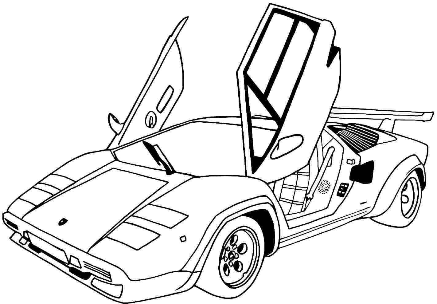 car picture to color 10 car coloring sheets sports muscle racing cars and car to picture color