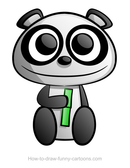 cartoom drawings panda drawing sketching vector drawings cartoom