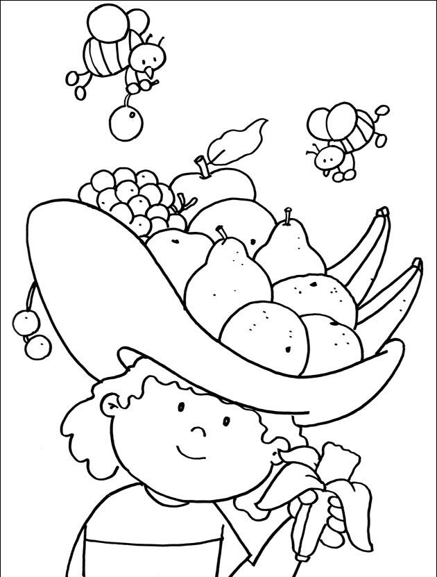 cartoon fruit coloring pages coloring fruit for kids stock vector illustration of coloring pages cartoon fruit