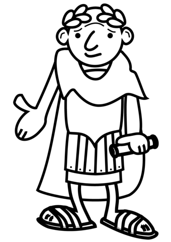 Cartoon roman emperor