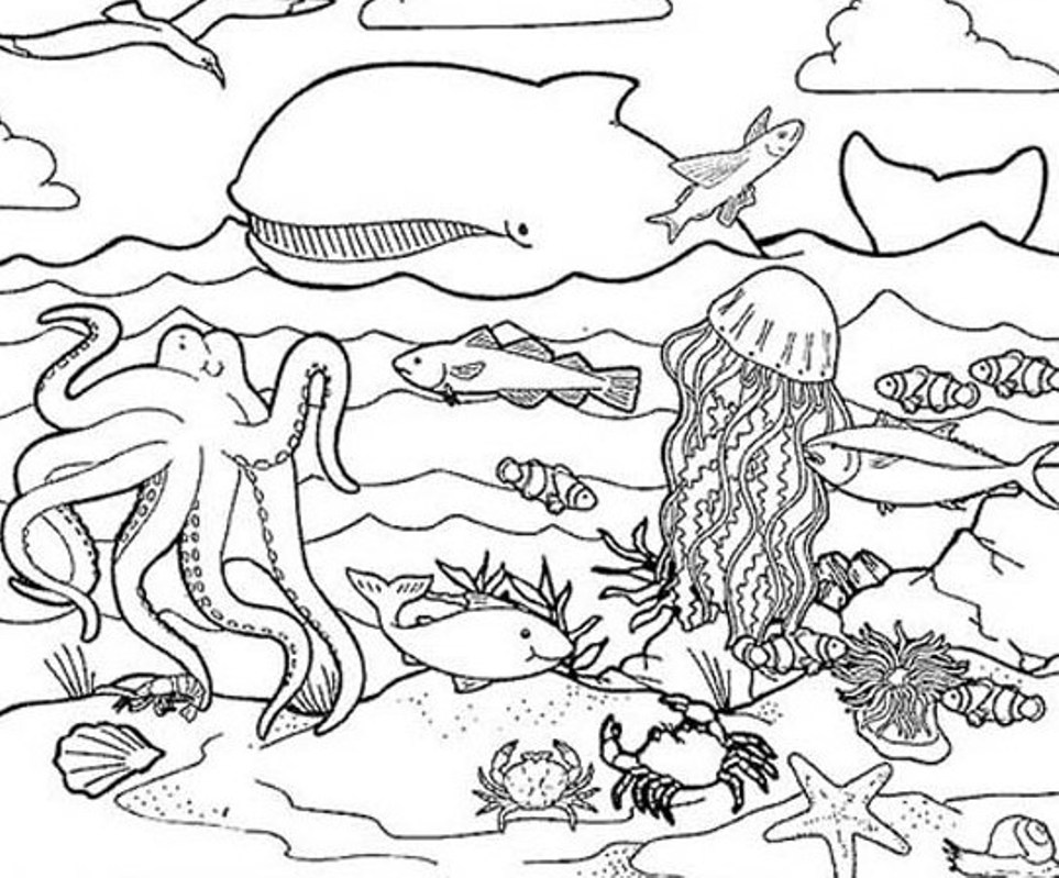 cartoon underwater coloring pages under the sea coloring pages to download and print for free coloring pages underwater cartoon