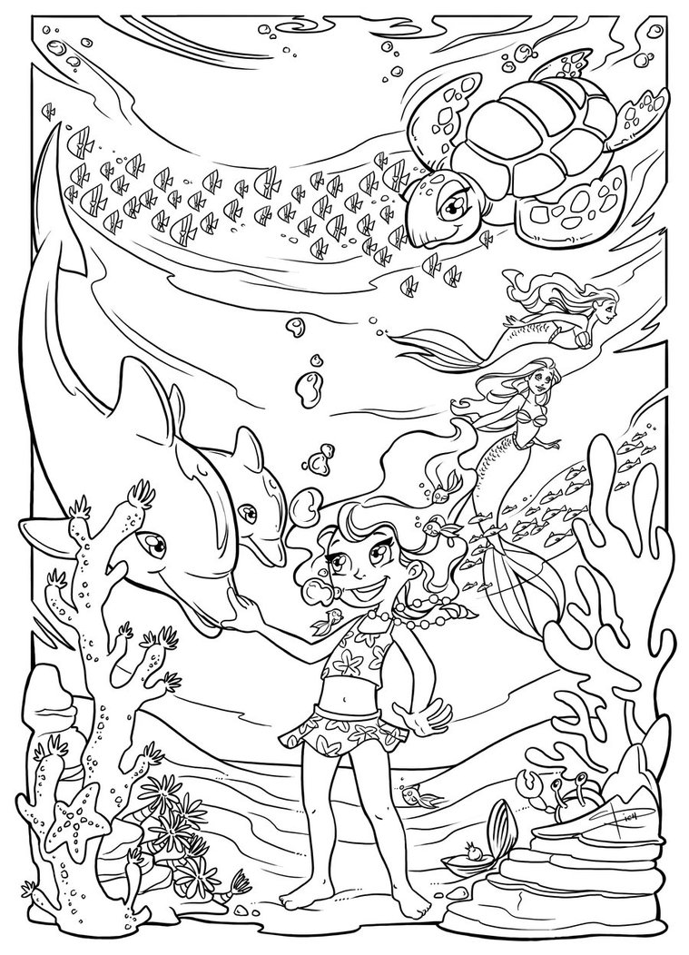 cartoon underwater coloring pages underwater coloring pages to download and print for free cartoon coloring underwater pages