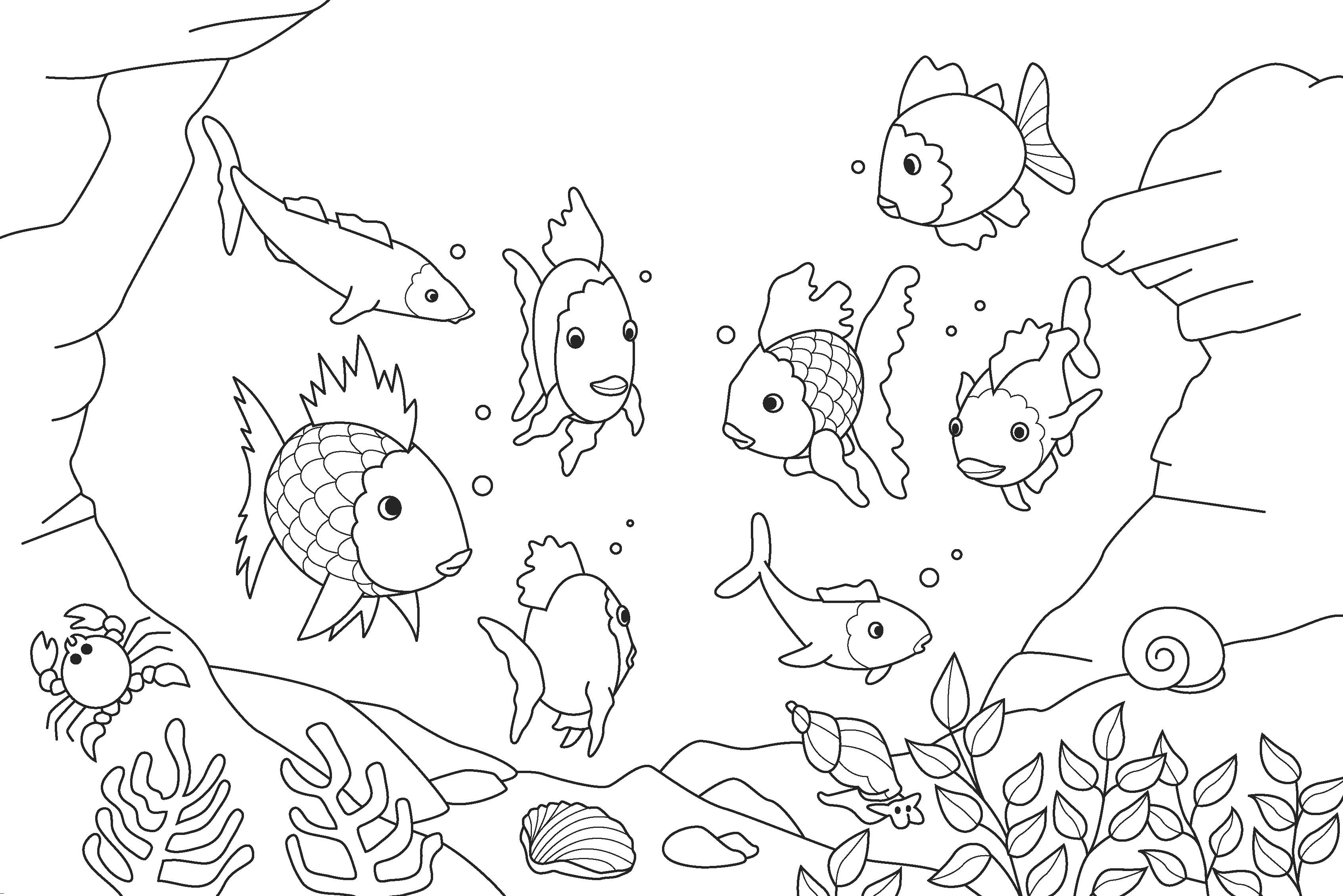 cartoon underwater coloring pages underwater coloring pages to download and print for free pages cartoon underwater coloring