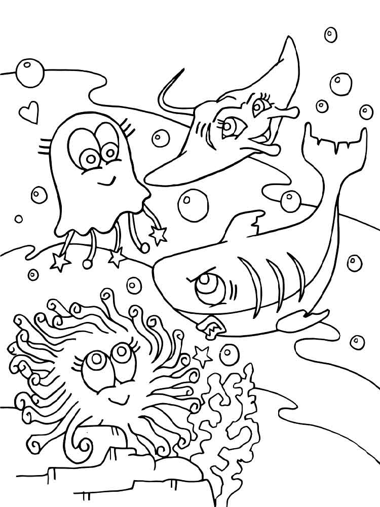 cartoon underwater coloring pages underwater world coloring pages download and print underwater cartoon pages coloring
